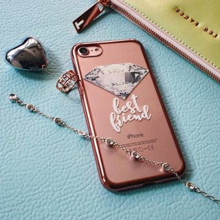 Diamonds are a girl's best friend-Dazzle transparent soft shell - iPhone 8, iPhone 7, iPhone 7 plus, iPhone 6