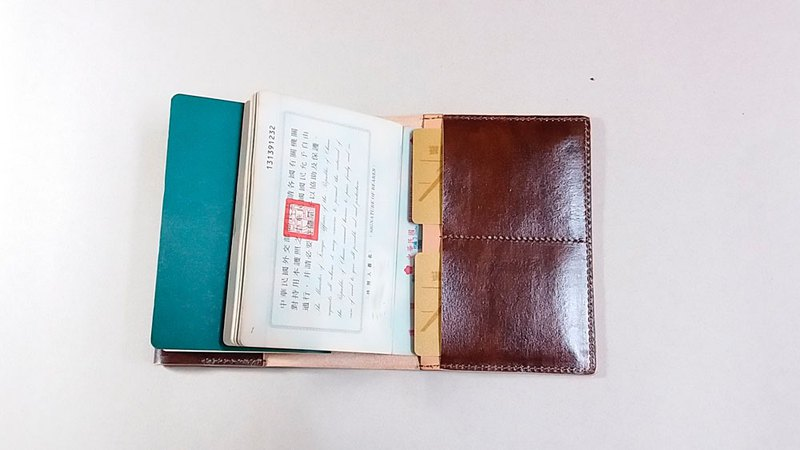 Sewn Leather ......... passport leather case simple version