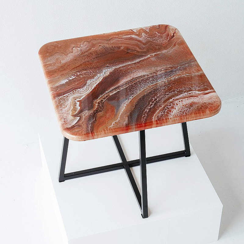 Marble Epoxy Resin Coffee/Tea table custom made