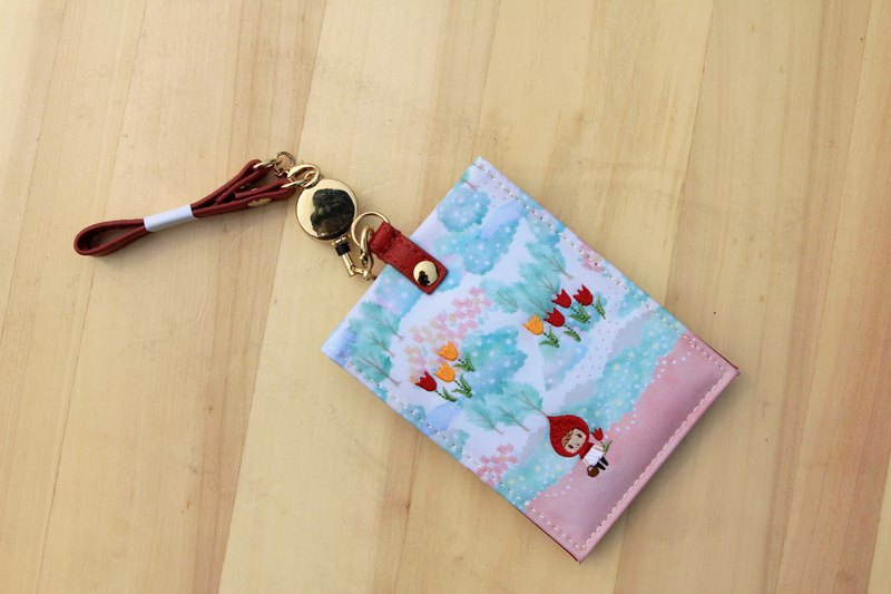 Japanese ticket card clip fairy tale series Little Red Riding Hood (straight open)