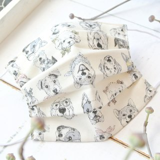 Mask to reduce cloudiness of glasses | Real dogs illustration White | TEMARIYA