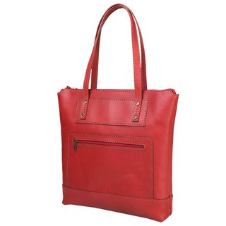 JIMMY RACING leather shoulder tote bag - deep red 0302136