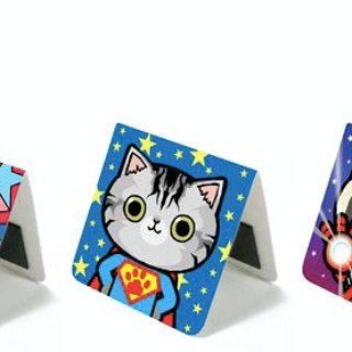 & Cabinet Cat Magnet Bookmark - Cat hero