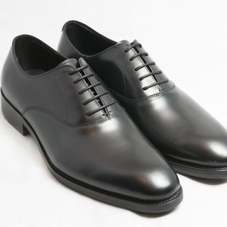Hand-painted calf leather leather with plain Oxford shoes leather shoes men's shoes - black - free shipping -E1A17-99