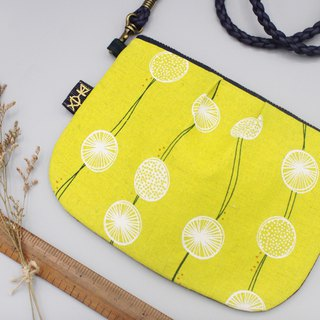 Safe side backpack - lemon slices, feel Japanese cotton, double-sided double back