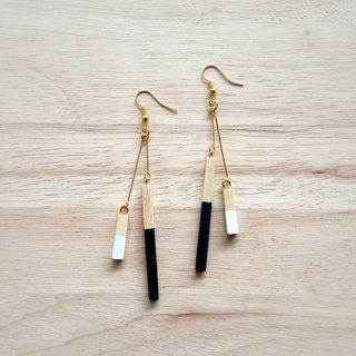 Wooden earrings no.1