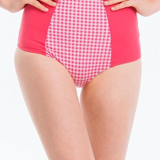 SEY Swimwear High Waist Bottom Pink Plaid