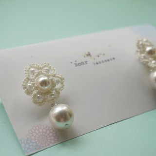 Handmade Tatting Earrings, Lace Earrings,Cotton,925silver