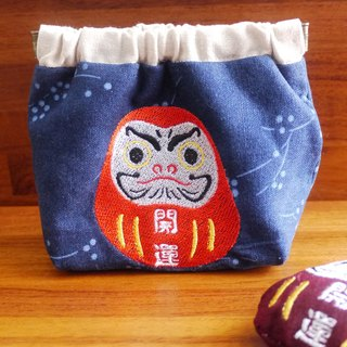Lucky Bodhidharma tumbler embroidered shrapnel money bag embroidered English name please note
