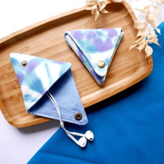 Crystal Handmade Tie dye Triangular Coin Case  Xmas gifts