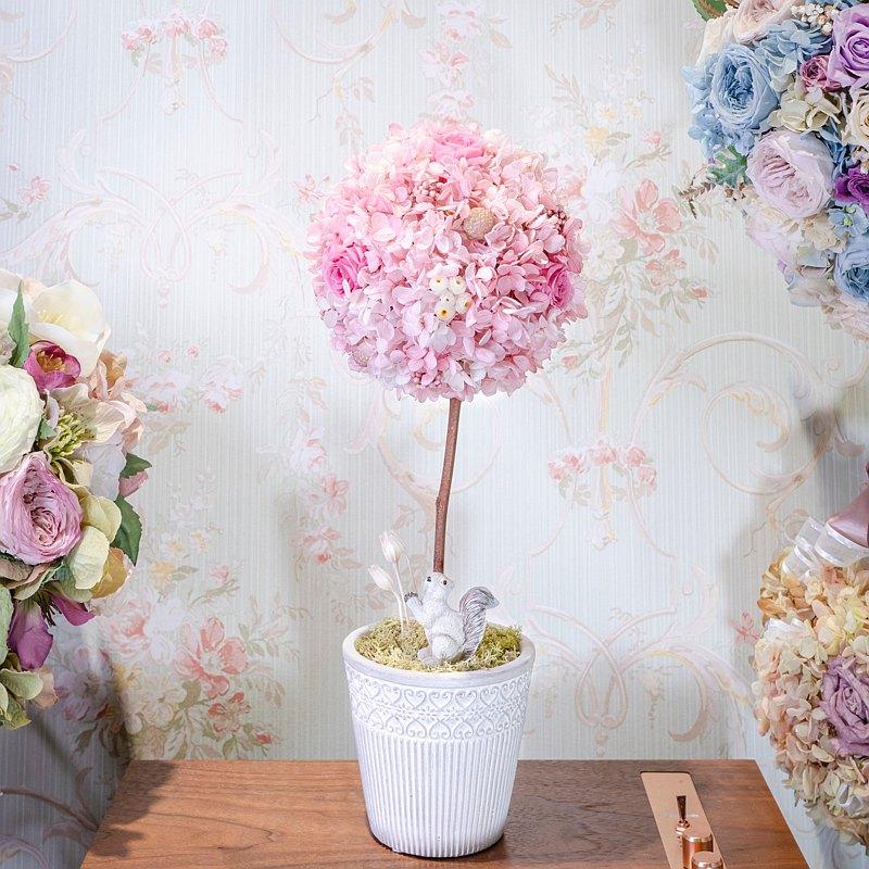 【一人成班】Topiary Art浪漫永生花球樹 婚禮佈置 附下午茶