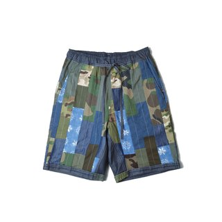 oqLiq - Display in the lost - Camo stitching doubles shorts
