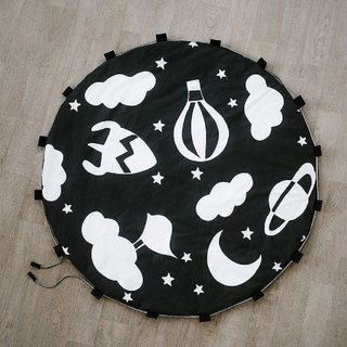 Baby Girls & Boys Play Mat and Toy Storage Bag Black