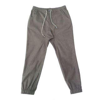 Ramie cotton jogger pants