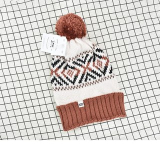 Handmade hook delicate wool cap Becks Coffee Brown Spot - the United States Krochet Kids moral fashion brand counters