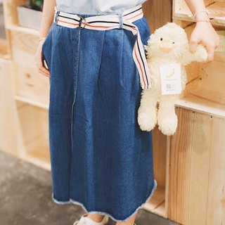 Denim - Vintage belt denim skirt