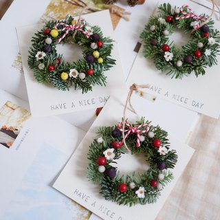 Nobel Prize Christmas mini wreath card dry flower shooting props wall decoration gifts gift wedding arrangement office small objects home exchange gifts Christmas (white / yellow) stock