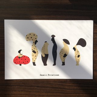 Small Potatoes Postcards / mushroom mushroom / fungus family