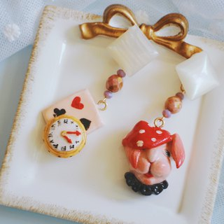 Fairy Tale Series - Alice In Wonderland Bunny Clay Earrings