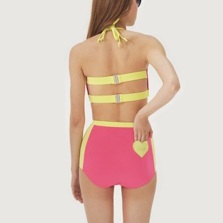 Love Pocket set - PinkYellow / swimwear / M