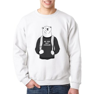 BE YOU BUT COOLER, Changeable color sweatshirt (White)