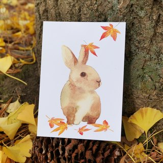 Lovely Animal watercolour postcard, Greeting card, Birthday card, print,