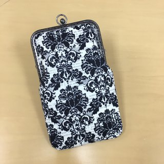 Black Foral Moblie Phone Case | Girlskioku~*
