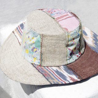 Limited to a national splicing hand-woven cotton hooded / knitted hat / fisherman hat / sun hat / gentleman hat - South America wind floating water splicing