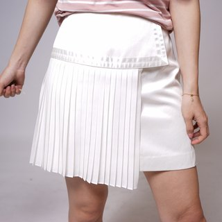 White irregular pants skirt
