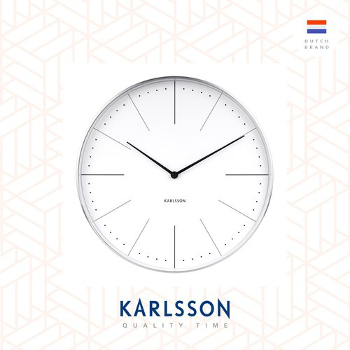 karlsson wall clock normann station black brushed case design by johannes lindner ur. Black Bedroom Furniture Sets. Home Design Ideas