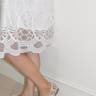 Flat 135 X Taiwan Designer Palace Style Pure White Embroidery Lace Fabric French Big Round Skirt With Pocket Lace Skirt Skirt Skirt Skirt Skirt Comfortable Inside Warmth Taste Dress