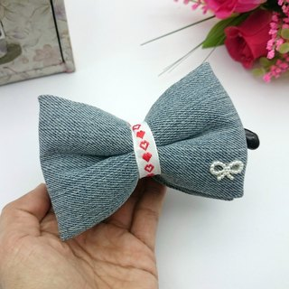 Q Cotton Cowboy Bow Banana Clip Ponytail*SK*