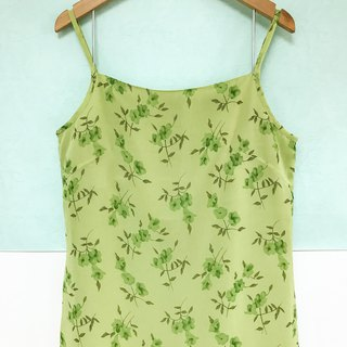 Dress / Green Floral Slip Dress