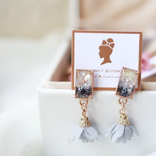 Time pieces of debris - TASSEL earrings