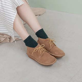 Round head short boots _ coffee