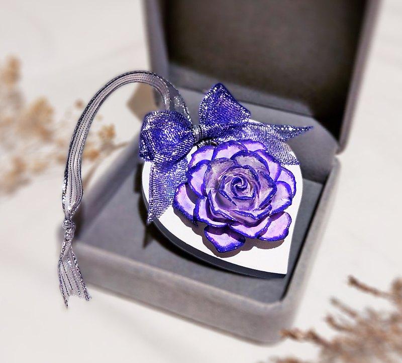 幸福香氛 粉藕紫燙亮邊 玫瑰擴香石 (附贈精美包裝禮盒 可客製化)