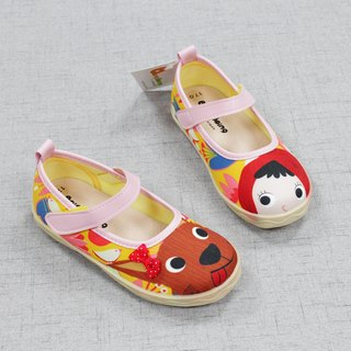 Illustration girl shoes - little red riding hood / yellow