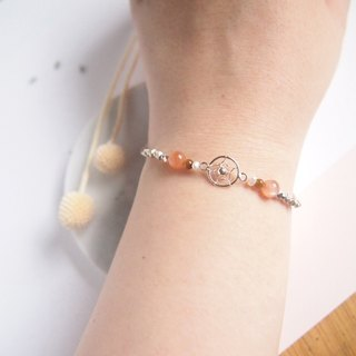 Capture Twilight | Dreamcatcher Sunstone Yellow Tiger Eye Pearl Sterling Silver Bracelet