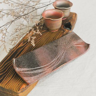Wood fired pottery. Cloud water tea tray, cup holder