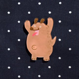 [Exclusive Small Objects] Surprised Excessive Middle-aged Fat Dog - Thick Cut Pin
