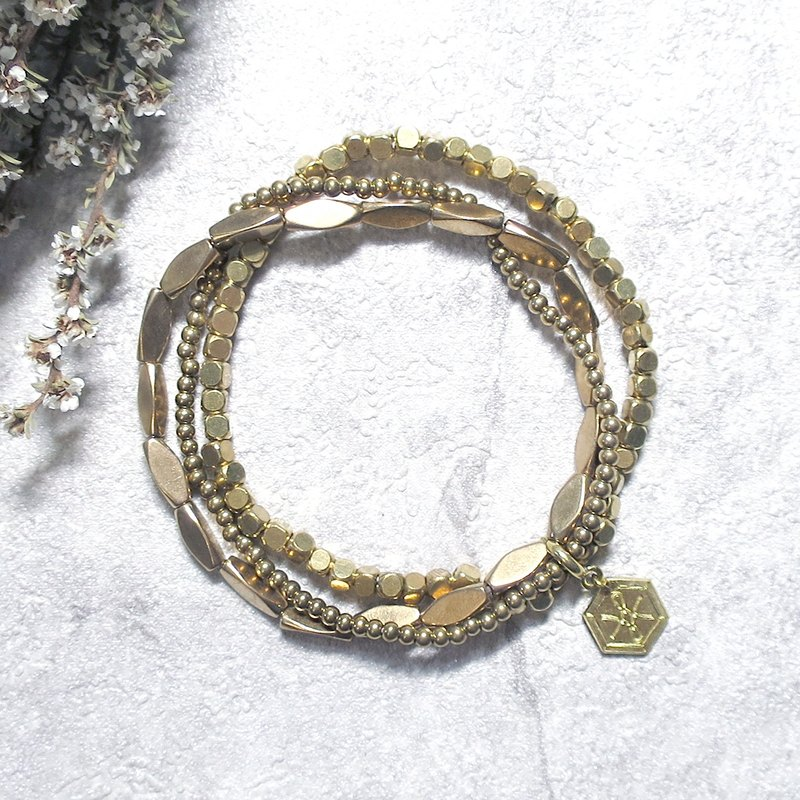 VIIART。變幻II。百搭基礎款黃銅手環