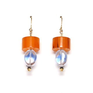 amber Beads Earrings / Earrings