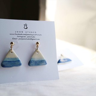 sea blue fuji earring