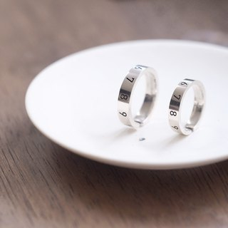 2 pair set) number pairing silver 925