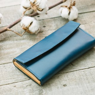 Italy Buttero Leather Long Wallet / Handmade