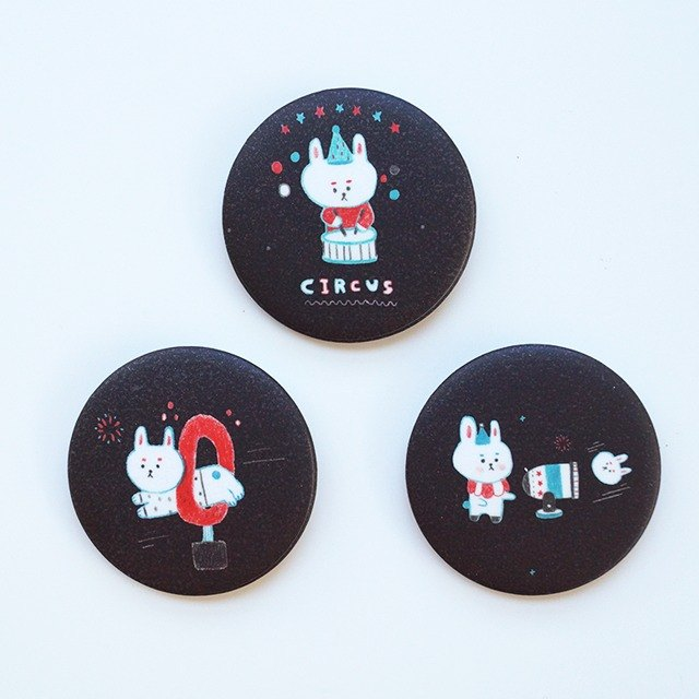 Circus Rabbit pin button set