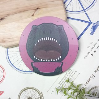 Customized (can add words) - Dinosaurs eating watermelon - absorbent coasters ~ ceramic coasters