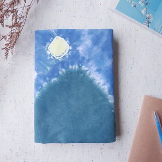 : Moon : Hadmade Tie dye Book Cover for A5 Adjustable Xmas gifts