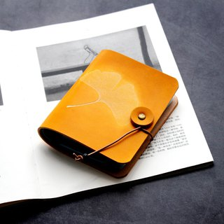 Ginkgo biloba yellow tea leather ticket card holder business card package card package card set 40 card position