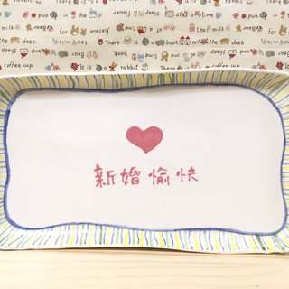 Customized - Wedding gift / new home ceremony (free plus write name) - Square pottery